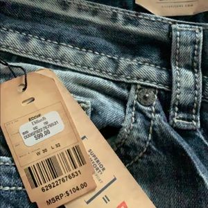 Brand new silver jeans from Dillard's